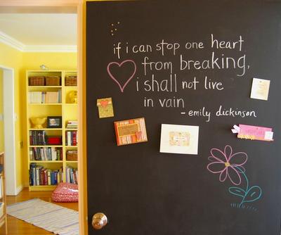 Chalkboard paint 1