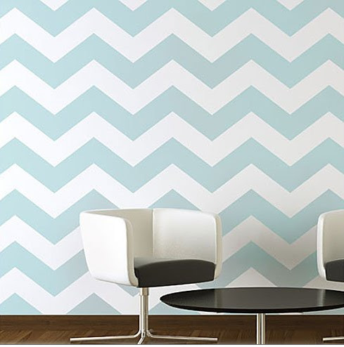 Paint colors vra interiors for Chevron template for walls