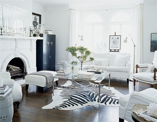 Black white 30 most beautiful interiors vra interiors for White interior design living room