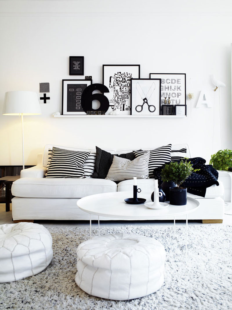 Most Beautifull Deco Paint Complete Bed Set: Black + White: 30 Most Beautiful Interiors