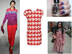 Colorful Houndstooth Print